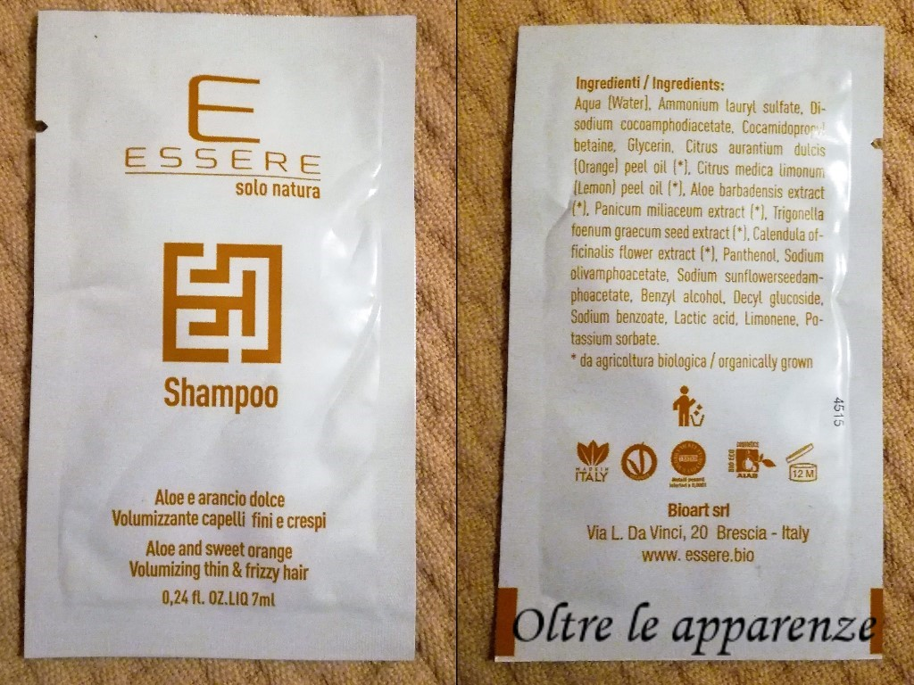 Essere bio shampoo-essere