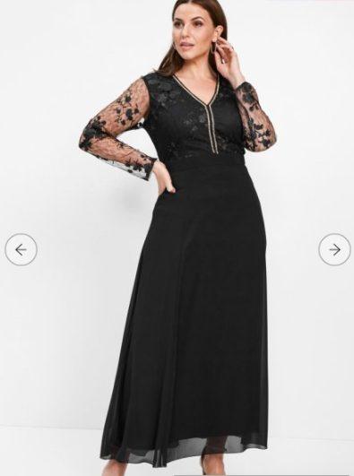 bonprix vestito nero e pizzo