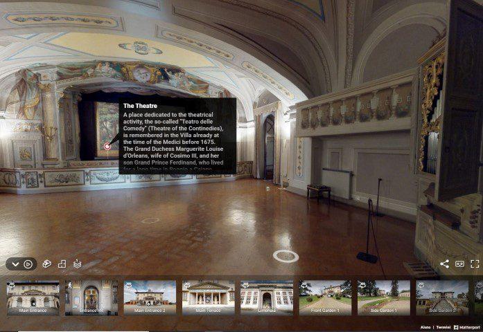 turismo virtuale villa medicea